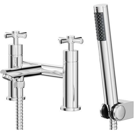 Cross Bath Shower Mixer Tap & Kit