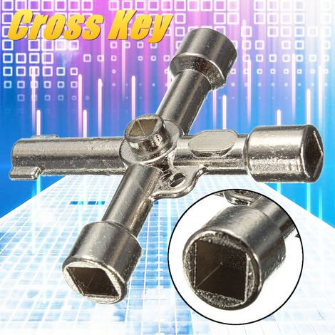 Cross Key 4 Way Wrench For Gas Cabinet Meter Box Electric Heater