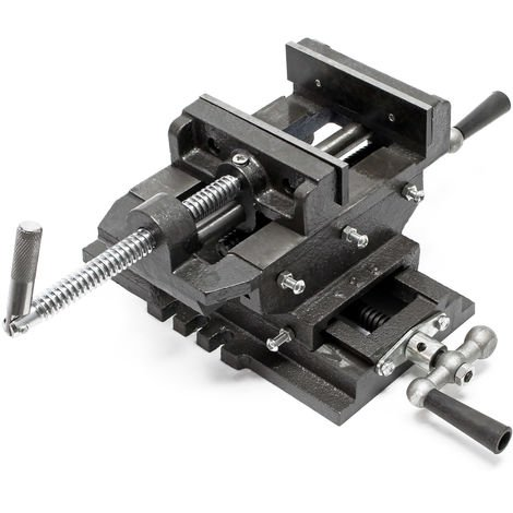Cross Slide Drill Press Vise X-Y Clamping bench Milling Machine 125mm