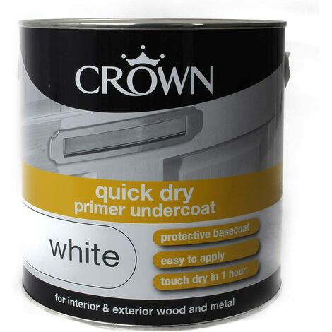 Crown 2.5L - Quick Dry Undercoat Pure Brilliant White