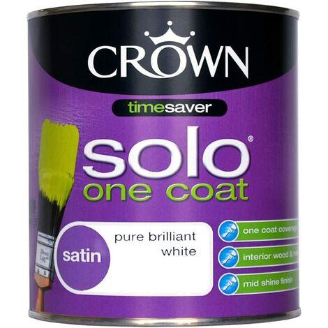 Crown 2.5L - Solo One Coat Satin Pure Brilliant White