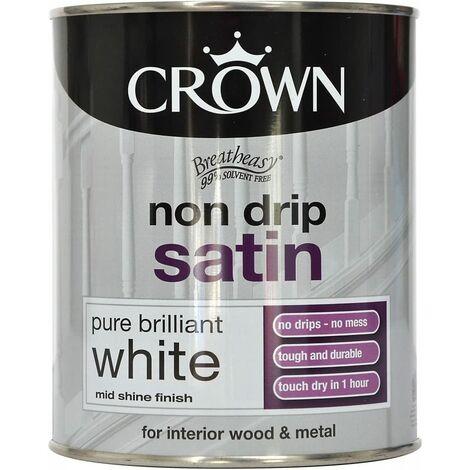 Crown 750ml - Non Drip Satin Pure Brilliant White
