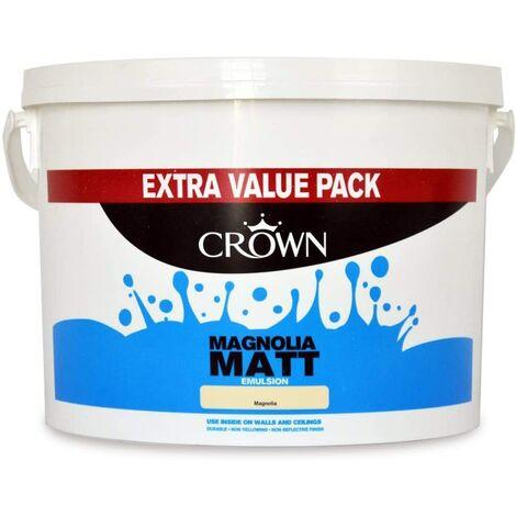 "main image of ""Crown 7.5L - Standard Matt Emulsion - Magnolia"""