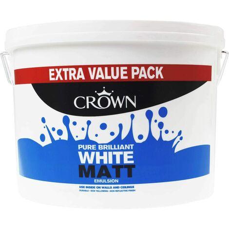"""main image of """"Crown 7.5L - Standard Matt Emulsion - Pure Brilliant White"""""""