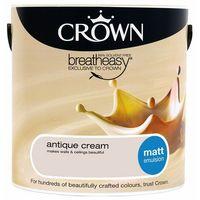 Crown Antique Cream 2.5L Matt Emulsion