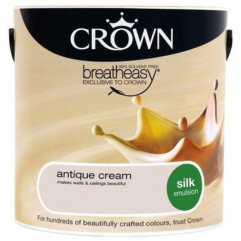 Crown Antique Cream 2.5L Silk Emulsion