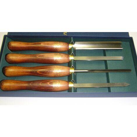 Crown : Coffret 4 outils de tournage bois