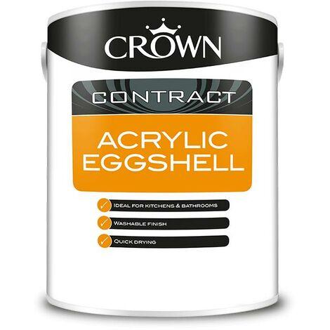 Crown Contractors Acrylic Eggshell - Brilliant White - 5L