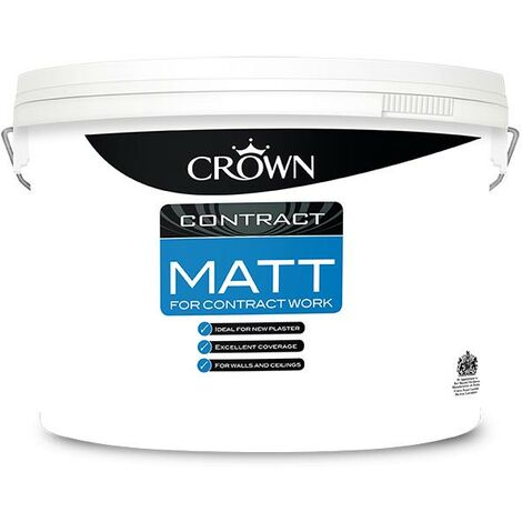 Crown Contractors Contract Matt - Brilliant White - 10L