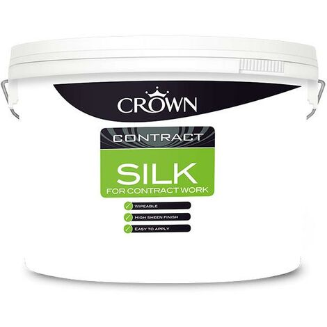 Crown Contractors Contract Silk - Brilliant White - 10L