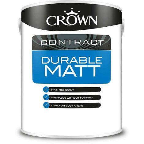 Crown Contractors Durable Matt - Brilliant White - 5L