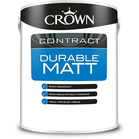 Crown Contractors Durable Matt - Magnolia - 2.5L