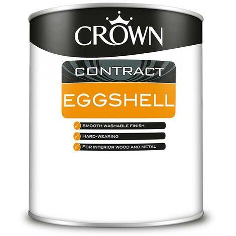Crown Contractors Eggshell - Brilliant White - 1L