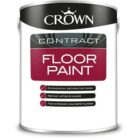 Crown Contractors Floor Paint - Grey - 5L