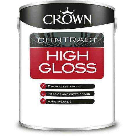 Crown Contractors High Gloss - Brilliant White - 5L