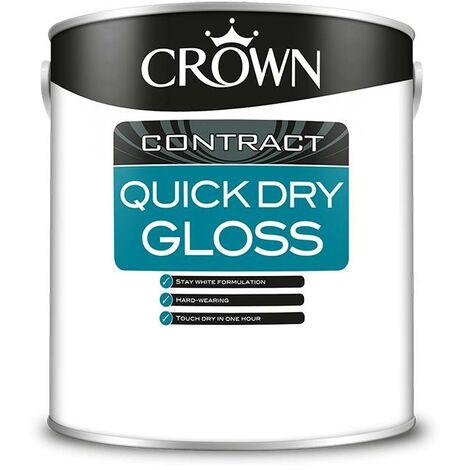 Crown Contractors Quick Dry Gloss - Brilliant White - 1L