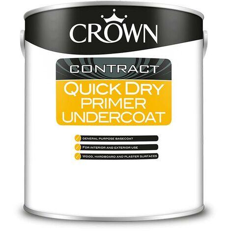 Crown Contractors Quick Dry Undercoat - White - 2.5L