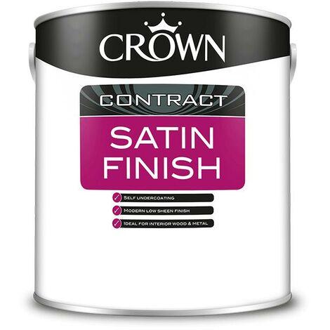 Crown Contractors Satin Finish - Brilliant White - 2.5L