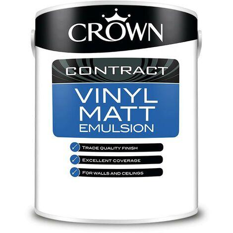 Crown Contractors Vinyl Matt - Magnolia - 5L