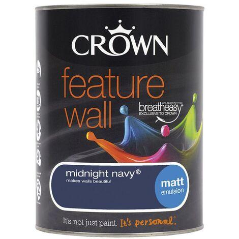 Crown Feature Wall Matt - Midnight Navy - 1.25L