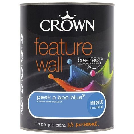 Crown Feature Wall Matt - Peekaboo Blue - 1.25L