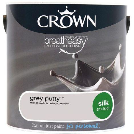 Crown Grey Putty 2 5l Silk Emulsion
