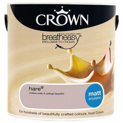 Crown Hare 2.5L Matt Emulsion