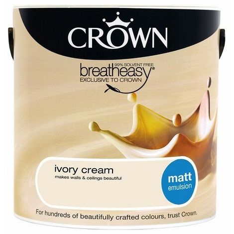 Crown Ivory Cream 2.5L Matt Emulsion