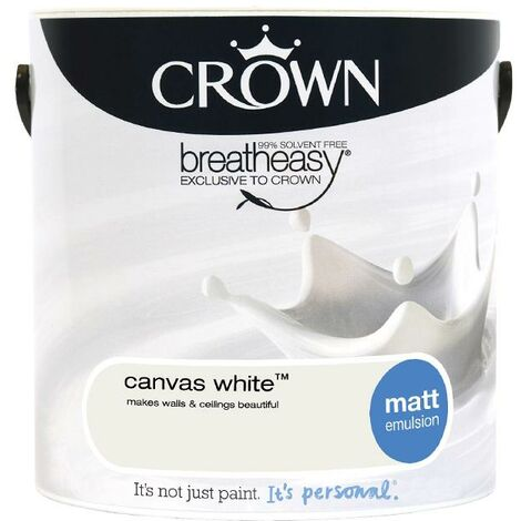 Crown Matt Breatheasy Solvent Free - Canvas White - 2.5L