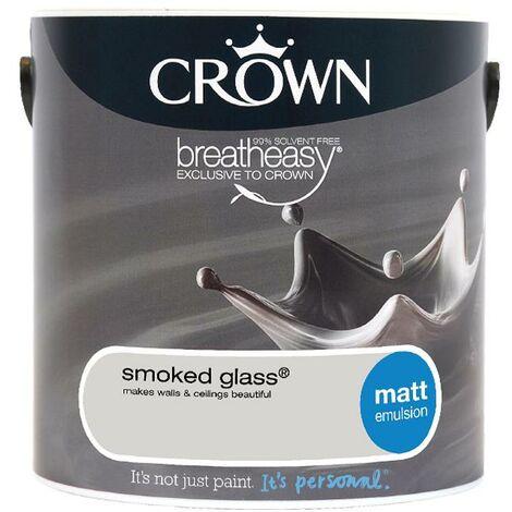 "main image of ""Crown Matt Breatheasy Solvent Free - Smoked Glass - 2.5L"""