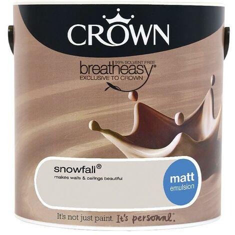 Crown Matt Breatheasy Solvent Free - Snowfall - 2.5L