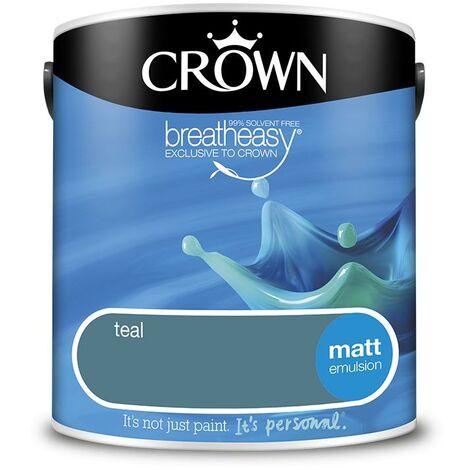 Crown Matt Breatheasy Solvent Free - Teal - 2.5L