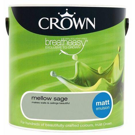 Crown Mellow Sage 2.5L Matt Emulsion