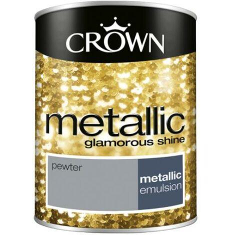 Crown Metallic Glamorous Shine - Pewter - 1.25L