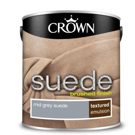 Crown Paint Mid Grey Suede Emulsion 2.5L