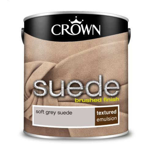 Crown Paint Soft Grey Suede Emulsion 2.5L
