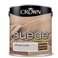 Crown Paint Soft Grey Suede Emulsion 2.5L