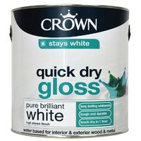 Crown Quick Dry Pure Brilliant White Gloss 2.5L