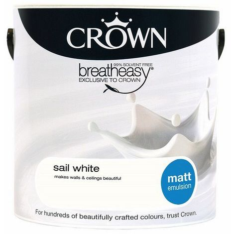 Crown Sail White 2.5L Matt Emulsion