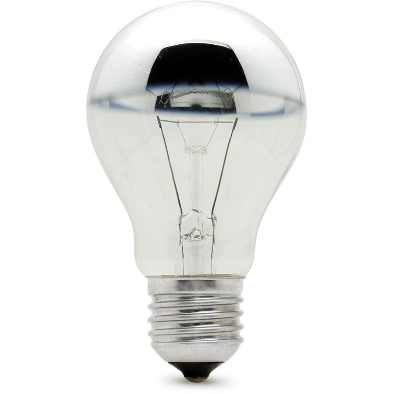 Crown Silver Gls 60w Es Lamp