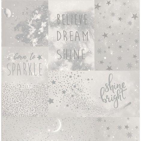 Crown Starlight Love To Shine Silver Wallpaper