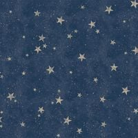 Crown Starlight Stars Navy Blue Wallpaper