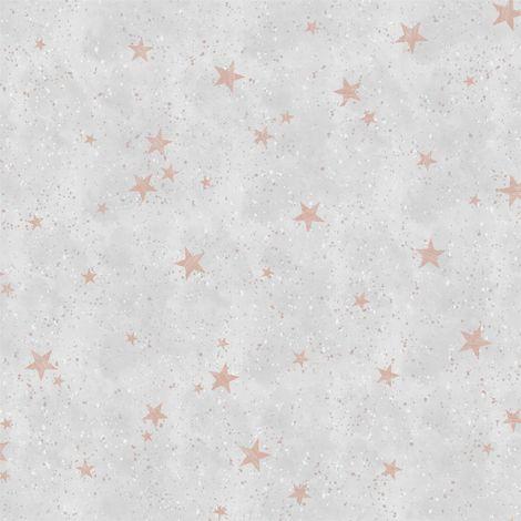 Crown Starlight Stars Rose Gold Wallpaper