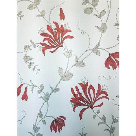 Crown Wallcoverings Amelie Wallpaper Red M1304