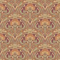 Crown Wallcoverings Flora Nouveau Wallpaper Russet M1194