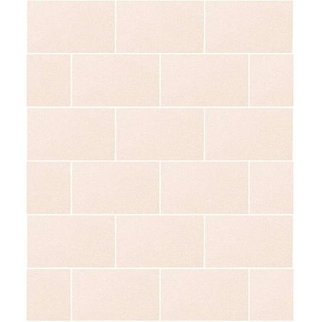 Crown Wallcoverings London Glitter Tile Wallpaper Champagne M1124