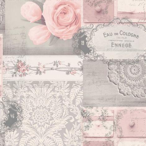 Crown Wallcoverings Ophelia Decoupage Blush M1426