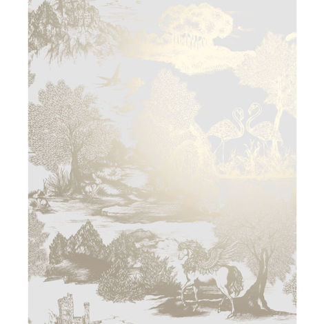 Crown Wallcoverings Ophelia Pegasus Gold M1429