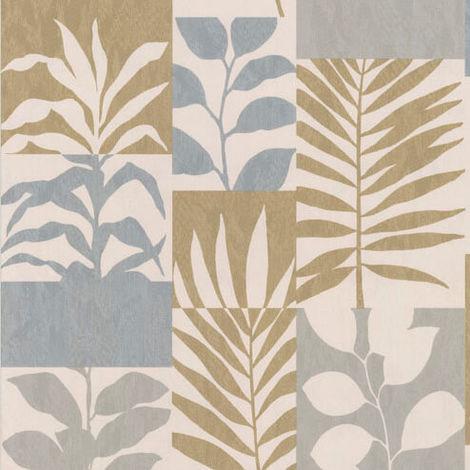 Crown Wallpaper Alexis Leaf Gold M1384