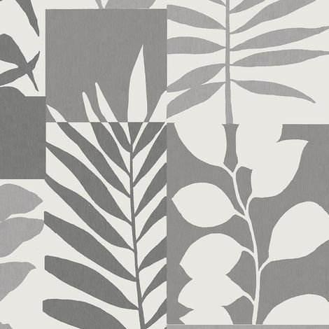 Crown Wallpaper Alexis Leaf Silver M1383